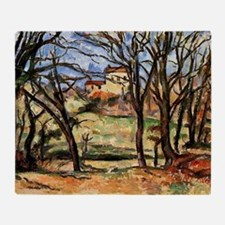 Cezanne - House behind Trees on the  Throw Blanket