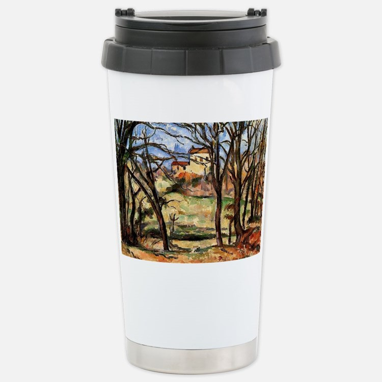 Cezanne - House behind  Travel Mug