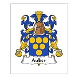 Auber Family Crest Small Poster