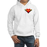 Geocaching Heart Pocket Image Hooded Sweatshirt