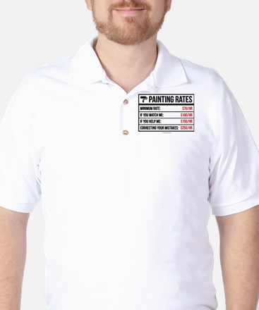 Funny Painting Rates Golf Shirt