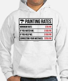 Funny Painting Rates Jumper Hoody