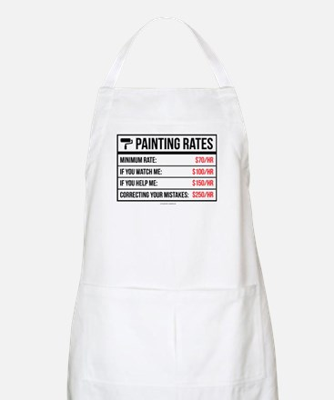 Funny Painting Rates Apron