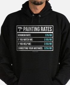 Funny Painting Rates Hoody