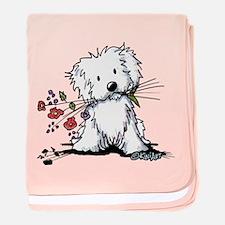 Coton de Tulear Gardener baby blanket