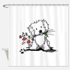 Coton de Tulear Gardener Shower Curtain