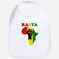 Rasta Black Power Africa Bib