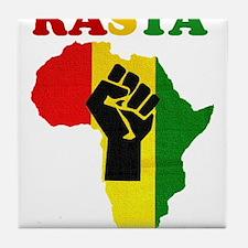 Rasta Black Power Africa Tile Coaster