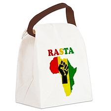 Rasta Black Power Africa Canvas Lunch Bag