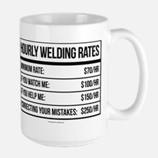 Hourly Welding Rates Mugs