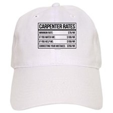 Funny Carpenter Rates Baseball Baseball Cap