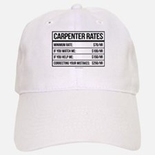 Funny Carpenter Rates Baseball Baseball Cap