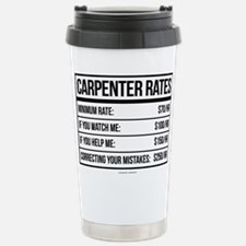 Funny Carpenter Rates Stainless Steel Travel Mug