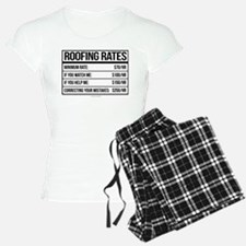 Roofing Rates Humor Pajamas