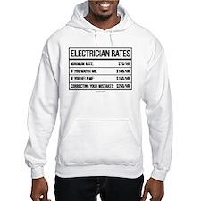 Electrician Rates Humor Hoodie Sweatshirt