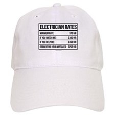 Electrician Rates Humor Baseball Cap