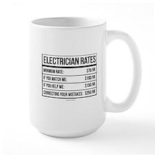 Electrician Rates Humor Mugs