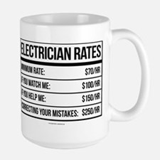 Electrician Rates Humor Mugs