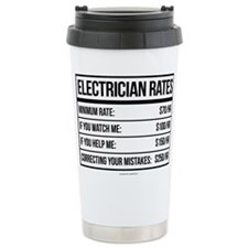 Electrician Rates Humor Travel Mug