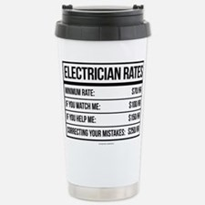 Electrician Rates Humor Travel Mug
