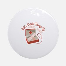 Patch Things Up Ornament (Round)