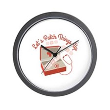 Patch Things Up Wall Clock