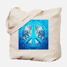 Abstract Blue Peace Sign Tote Bag