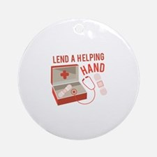 A Helping Hand Ornament (Round)