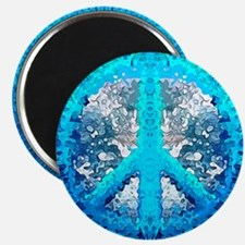 Abstract Blue Peace Sign Magnets