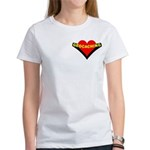 Geocaching Heart Pocket Image Women's T-Shirt