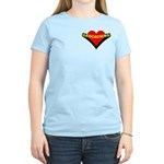 Geocaching Heart Pocket Image Women's Light T-Shir