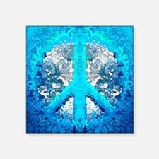 Abstract Blue Peace Sign Sticker