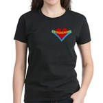 Geocaching Heart Pocket Image Women's Dark T-Shirt