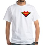 Geocaching Heart Pocket Image White T-Shirt