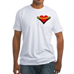 Geocaching Heart Pocket Image Fitted T-Shirt