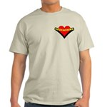 Geocaching Heart Pocket Image Light T-Shirt