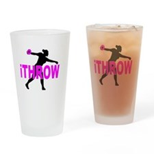 Pink Discus Drinking Glass