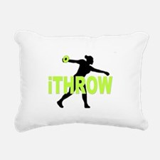 Green Discus Rectangular Canvas Pillow
