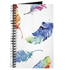 Watercolor Feathers Journal