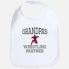 Grandpas Wrestling Partner Bib
