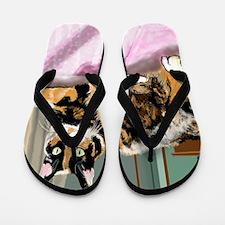 Cali Q Kitten Flip Flops