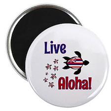 Live Aloha! Hawaii Magnet