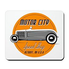 Hot Rod MotorCity Speed Shop Vintage SignMousepad