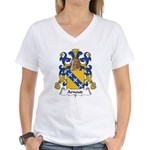 Arnoud Family Crest Women's V-Neck T-Shirt