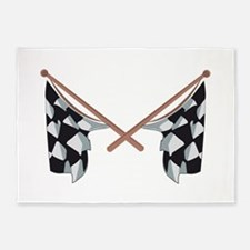 Race Flags 5'x7'Area Rug