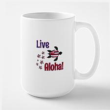 Live Aloha! Hawaii... Large Mug