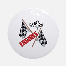 Start Your Engines Ornament (Round)