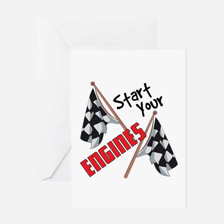 Start Your Engines Greeting Cards