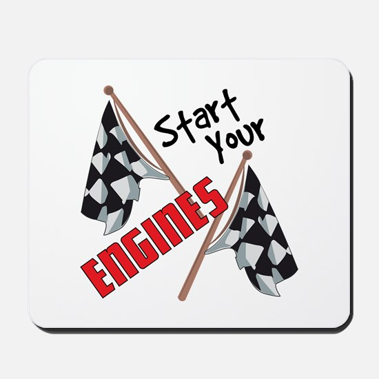 Start Your Engines Mousepad
