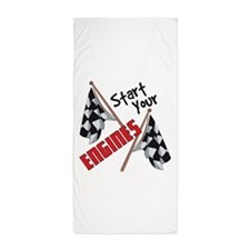 Start Your Engines Beach Towel
